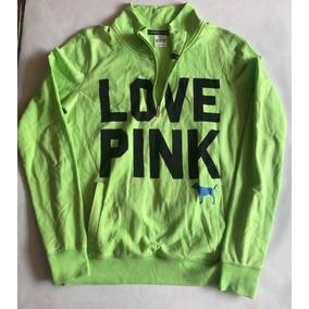 Sudadera Pink - Americana Original - Verde Limon Cuello Alto