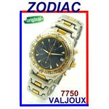 b5001ab1da4 Zodiac Natan Cronógrafo Auto. Valjoux 7750 Aço-ouro Azul !