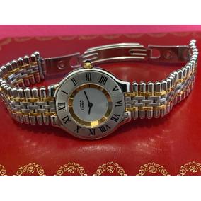 Cartier Must Siglo 21 Acero Oro Para Dama Full Set 31mm