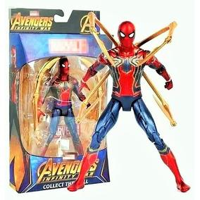 Incrível Boneco Marvel Homem Aranha De Ferro Guerra Infinita