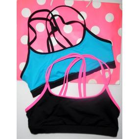 Victorias Secret Pink Ropa Deportiva 2 Tops Deportivos M