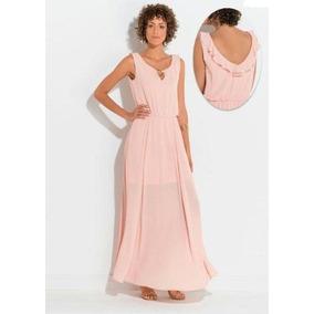 0e296bc00 Vestido Chiffon Longo - Vestidos De Festa Longos Femininas Rosa no ...