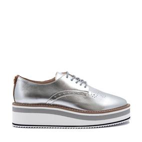 Zapato Hispana Con Plantilla Memroy Foam Para Mujer Plata