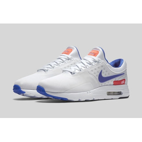 cheaper 84dec 2bcd4 Tenis Nike Air Max Zero Blancos Con Azul Unisex, Zapatillas.