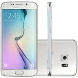 Smartphone Samsung Galaxy S6 Edge 64gb 16mp - Branco Vitrine