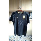 Camisa Nike Preta Brasil - Cbf Black Pack Versão Limitada 7b3d553c96171