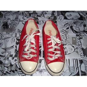 Tênis Vermelho Coca Cola Original Tamanho 37 Estilo All Star