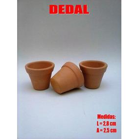 50 Mini Vasinho Barro Dedal Lembrancinha Casamento 2,8x2,5cm
