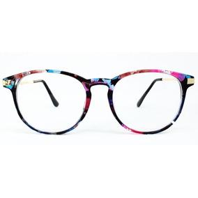 Oculo Sem Grau Redondo Floral - Óculos no Mercado Livre Brasil a3e5adda05