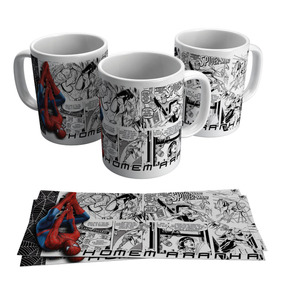 Caneca Homem Aranha Spider Man Hq Gibi Revistinha Marvel