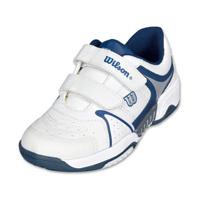 Calzado Tenis Niño Niña Wilson Deportivo Azul/blanco Comodo