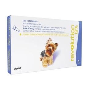 Antipulgas Revolution 12% Cães 2,5 A 5kg - 3pipetas 03/21