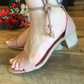 Sandálias Salto Grosso Ou Fino Santa Liz