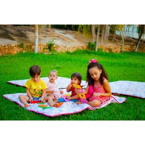 Tapete Infantil De Atividades Picnic-impermeável Dupla Face