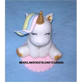 Unicornios Souvenirs Porcelana Fría Más Bolsita Y Tarjetita