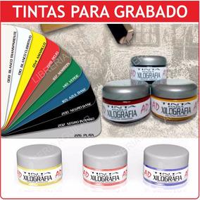 Tinta Xilografia Grabado Colores Xilografica