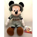 Boneco Pelúcia Mickey Mouse Safári Animais Disney Original