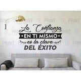 Vinil Decorativo Frase Motivacional La Confianza Sticker