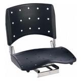 Cadeira P/ Barco Giratória E Dobrável C/ Assento Pvc Preto##