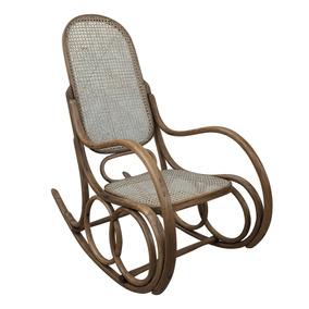 Cadeira De Balanço Austriaca Thonet Palhinha Perfeita