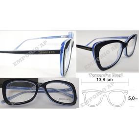 de26b5e7c43c6 Armação Oculos P  Grau Feminina Tiffany   Co Acetato Top New