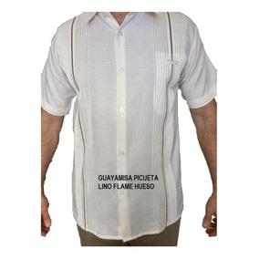 Guayabera Talla 50 (5xl) Lino Mc Con Rejillado