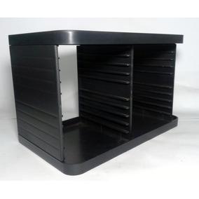 Porta Cd Modular Preto Plástico Para 20 Cds