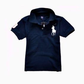 Camisa Polo Infantil - Pólos para Meninos Preto no Mercado Livre Brasil 107ec979cc778