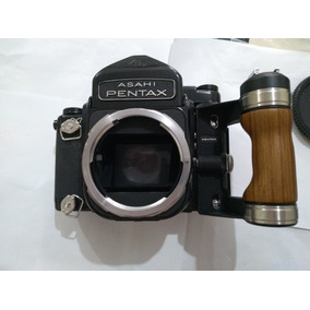 Camera Fotografica Antiga Pentax Asahi 6x7 C/ 02 Lentes