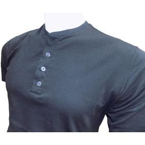 Camiseta Gola Henley Camisetas Manga Curta Masculino - Camisetas e ... 2b9c7eb8f0b57