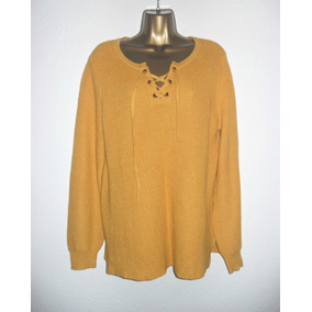 Suéter Old Navy Color Mostaza Mujer Talla L
