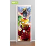 Adesivo Decorativo Porta Vingadores Avengers Sol Mod. 684 e70b91fb99