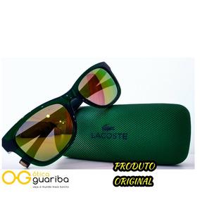 c77f7a74f0557 Oculos De Sol Verde Espelhado Lacoste - Óculos no Mercado Livre Brasil