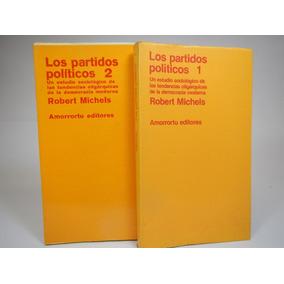Los Partidos Políticos 2 Tomos Robert Michels G1