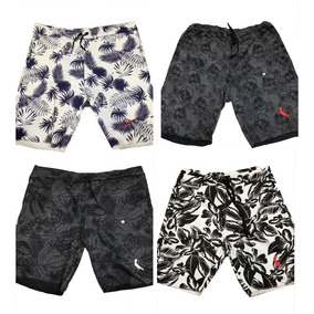 Kit 4 Bermuda Short Moletom Masculina Florida Top