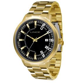 Relógio Lince Feminino Analógico Dourado Mrg4353sp2kx