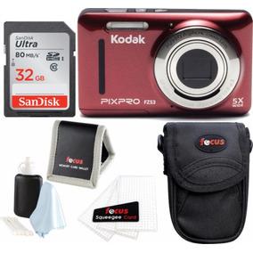 Ambiente Pixpro Kodak Zoom Fz53 (rojo) Con La Tarjeta Sd De