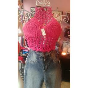 Lote De Top Corpiño A Crochet Tejido A Mano