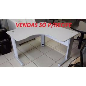 Mesa Em L 1,20x1,20 Cinza (usado) Vendas Só Para Recife