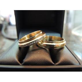 fa6bf5a9333 Glitter Joias - Alianças Em Ouro 18k Cravejada De Diamantes!