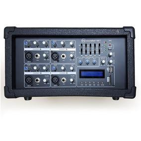 Consola Mezclador Amplificado Soundbarrier Sb8354 Mp3