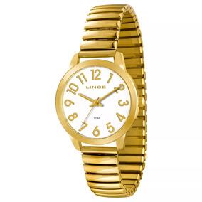 d5b19f6eacf Relogio Feminino Dourado Barato Lince - Relógios De Pulso no Mercado ...