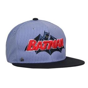41c473a30e982 Gorra Batman Vintage 2 Azul   Negro Plana Dc Comics
