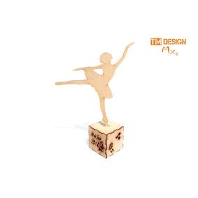 Bailarina De Ballet Corte Laser Personalizado Xv Años Invita