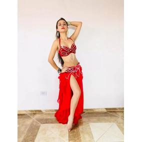 9893b37f9 Promoçao Roupa De Dança Do Ventre Veludo Vermelho - Calçados