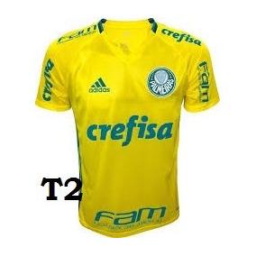 ef7800ca81 Camiseta Amarela Palmeiras - Camisetas e Blusas no Mercado Livre Brasil