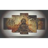 Cuadro Decorativo 5 Piezas Buda 3