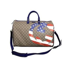 Gucci Unisex Bandera Americana Duffle Boston Travel Bag 3
