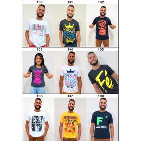 6ca8f858e Kit 15 Camiseta Evangélica Dizeres Bíblicos