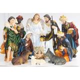 Pesebre Dorado 11pz 31cm Poliresina 529-31206 Religiozzi